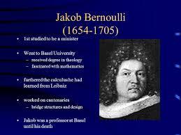 Image result for Jakob Bernoulli