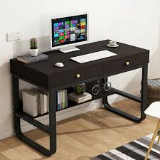 Computer Desk Simple Design Modern Computer Writing Desk Workstation Office Home Laptop Table With 2 Drawers