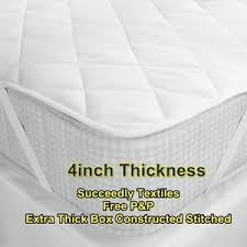 thick mattress topper. Image Is Loading Luxury-4-034-inches-Thick-Mattress-Topper-500- Thick Mattress Topper