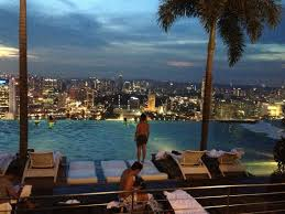 Infinity Pool at night Picture of Marina Bay Sands Singapore
