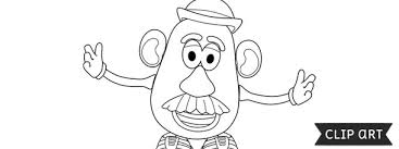 Potato head toy story mrs. Mr Potato Head Template Clipart