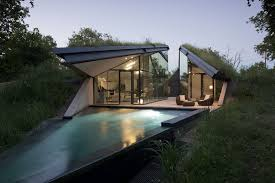 Unusual Homes   Modern House Designs   Page Underground Eco House Split into Living and Sleeping Halfs