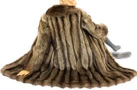 beautiful soft fur coat made of genuine rac fur coat fur jacket