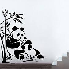 panda wall stickers decor kafe home decor panda wall sticker wall sticker for bedroom wall art panda wall stickers  on panda wall art uk with panda wall stickers blue tree with pandas wall stickers tree wall