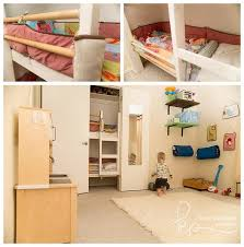 closet bedroom. Check Out This Cool Shared Kids Room And Playroom With A Bunk Bed In The Closet Bedroom