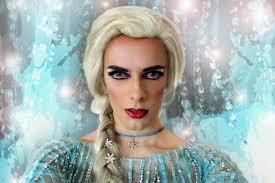 let it go queen elsa disney drag makeup from frozen