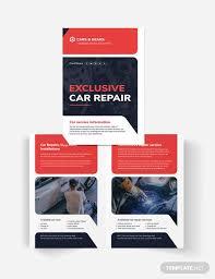 Auto Repair Flyer Auto Repair Service Bi Fold Brochure Template Word Psd