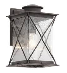 kichler 49744wzcl16 argyle 1 light 8 led outdoor wall sconce in weathered zinc