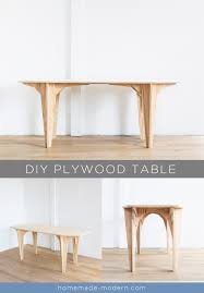 modern plywood furniture. This DIY Plywood Table Is Made Out ¾\u201d From Home Depot And Does NOT Modern Furniture R