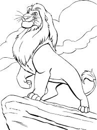 Coloriage Mufasa Roi Lion Imprimer