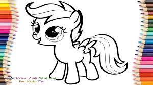 How To Draw And Paint Scootaloo From My Little Pony   My Little ...