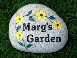 engraved garden stones. Marches Garden Stone With Engraved Flowers Stones