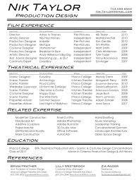 Film Resume Template Classy Film Amp Film Resume Outstanding Objective For Resume Resume Film