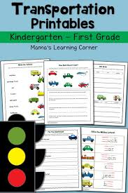 Transportation Worksheets for Kindergarten and First Grade - Mamas ...