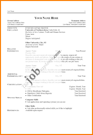 Different Type Of Resume With Examples Best Of Kinds Resume Format