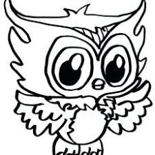 Majestic Cute Owl Coloring Pages Owls Free Printable For Kids Adults