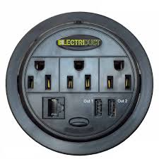 power tap grommet with power centers