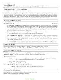 Great Data Center Manager Resume Fitness Trainer Resume Personal