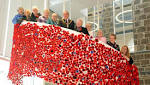 Dreghorn knitters' poppy cascade on display in Townhouse