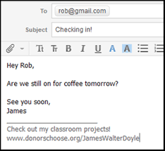 email teacher sharing your teacher page in your email signature help center
