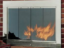 well suited ideas glass fireplace screens with doors 13