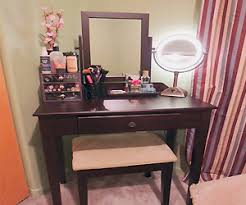 dark wood vanity table. dark wood vanity set for small room with little space table stuffselect