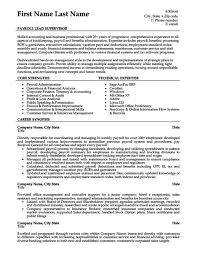 Payroll Lead Supervisor Resume