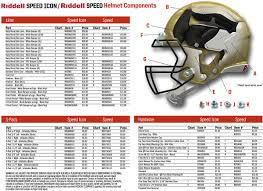 Football Helmet Size Chart Riddell