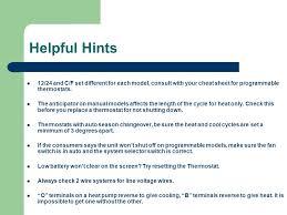 hunter thermostat training ppt 46 helpful