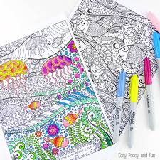 Check out 10 best ocean pictures to color that will add more fun to their life. Free Adult Coloring Pages Happiness Is Homemade