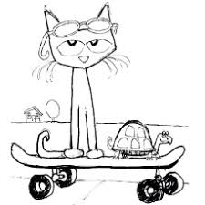 Pete The Cat And His Four Groovy Buttons Coloring Page Attractive