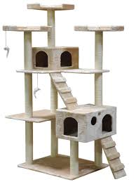 go pet club fbeige inch cat tree beige amazonca pet