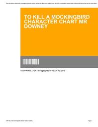 To Kill A Mockingbird Character Chart To Kill A Mockingbird Character Chart Mr Downey By C113 Issuu