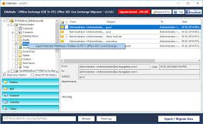 Office 365 Live Exporting Mailbox Items Edb To Office 365 Migrator