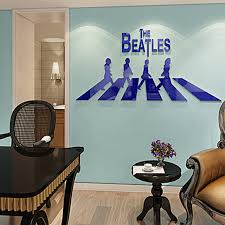 Small Picture Aliexpresscom Buy Rock Band Beatles Design Acrylic 3D Wall