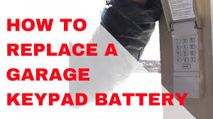 am 1 how to replace a garage door opener keypad battery
