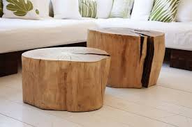 Awesome Wood Stump Coffee Table Diy Wood Stump Table Crafthubs