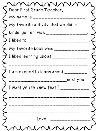thank you letter to 1st grade teacher thank you letter 2017