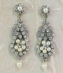 chandelier earrings vintage style rhinestone earrings deco lia