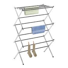 Whitmor Folding Drying Rack for Clothes, Accordion Design, Chrome Surface.