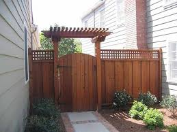 pergola fence. wood fence gate with pergola like the entrance home fences designs a