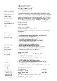 Purchasing Resumes Best Account Manager Job Description Template Thalmusco