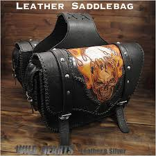 skull eagle carved leather single saddlebag harley davidson sportster iron 883 forty eight motorcycle wild hearts leather silver id sb2118