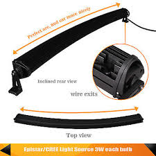 42inch 240w curved light bar wiring harness 2pcs 18w light one to 42inch 240w curved light bar wiring harness 2pcs 18w light one to