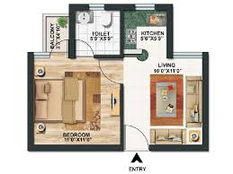 Small Apartment Floor Plans One Bedroom House Plan 2 Beds 2 Baths 786 Sq Ft Plan 116 104 Floor Plan
