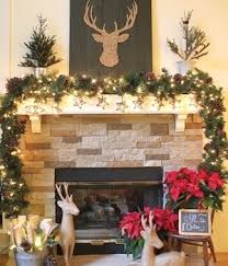 Cozy rustic outdoor christmas decoration ideas Patio Brown And Red Rustic Reindeer Mantel From The Kim Six Fix Prudent Penny Pincher 150 Rustic Christmas Decor Diy Ideas Prudent Penny Pincher
