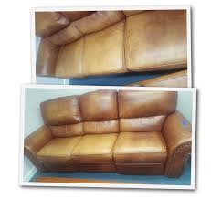 kimberly satorre before and after real leather couch refinish free for removing first photos were before shots and the last were after layers of dye and