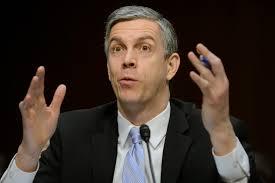 EPA/MICHAEL REYNOLDS/LANDOV. U.S. Secretary of Education Arne Duncan ...