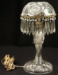 crystal desk lamp old antique cut glass crystal desk table lamp with chandelier type acorn pull