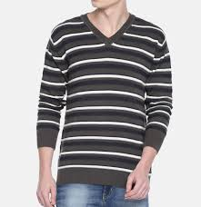 Design Workers Striped Crew Neck Sweater Hot Item Men Striped Striped Pullover Casual V Neck Line Sweater
